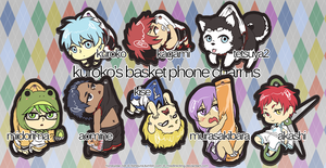 Kuroko's Basket Phone Charms by misdirecting