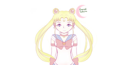 Pastel Sailor Moon (Without BG) by Emerald-Sakura