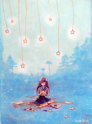 I cut my own stars to make me company by LawlietXD