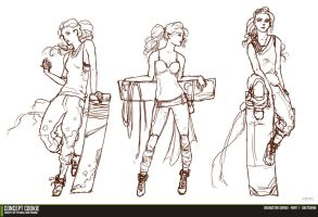 Female Character Series - Sketching the Outline by CGCookie