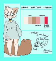 abigail reference sheet by 5L33PY-GUT5