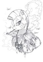 The Witch of Everfree (sketch) by Longinius-II