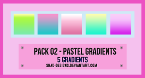 Pack 02 - Pastel Gradients  by shad-designs by shad-designs