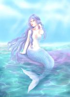 blue mermaid by kataneriel