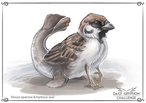 Gryphon Challenge 22 : Sparrow and Seal by Pechschwinge