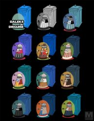 Daleks in Disguise - Poster by MeghanMurphy