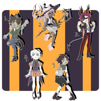 [CLOSED] Halloween Adopts by Lavuette
