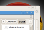 Chromium xfwm4 theme by u01p2109
