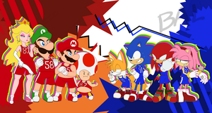 Mario and Sonic: Basketball by Balefactor