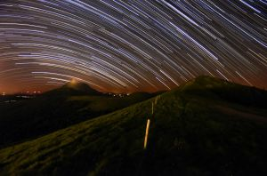 Startrail in Auvergne by Toinant