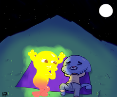 Penny and Gumball Stargazing by Kozmo-Khaotic