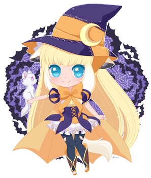 Lacie the Chibi Witch x3 by FoxSmileArts