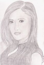 Nina Dobrev Sketch (attempt 3) by rocklovingwolf100