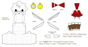 HnKnA PaperCraft - Peter White (rabbit form) by Larry-San