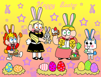 Happy Easter from PlayStation AllStars Kids by Princess-Sackboy3659