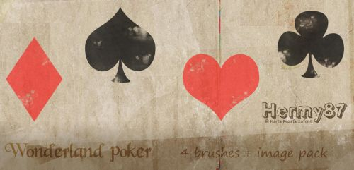 Wonderland poker brushes by Hermy87