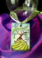 Tree on a hill necklace by Ideas-in-the-sky