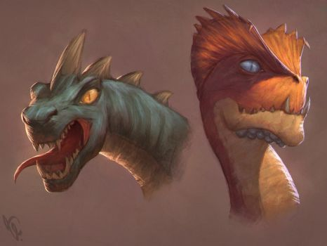 Dragon Heads 7 Day #28 by AngelGanev