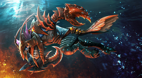 Loading screen for Deep Sea Dragoon - Slark set by KeiNhanGia