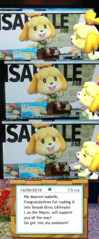 Isabelle Reacts To Herself Being In Smash by kwark85