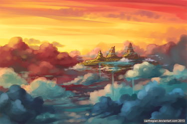 Island Above the Clouds by Carthegian