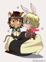 Tiger and bunny Chibi by Small-Spark