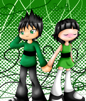 .:AT:. Duo Green by Blue-Shine-Star
