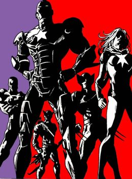 the dark avengers by craig7x