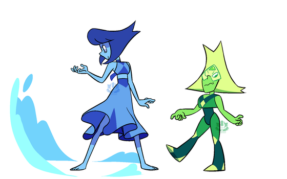 [P] - Lapis and Peridot redesigns by FloofHips
