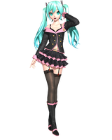 Project Diva Future Tone: Honey Whip Miku by Tuni-kun
