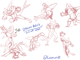 .::Practice::. Firuko sketches-Shark wolf Edition! by LeemonZ