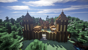 Small Wooden Castle by apromede