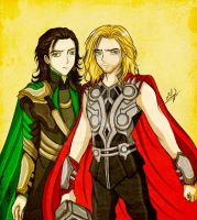 Loki and Thor by Eilyn-Chan