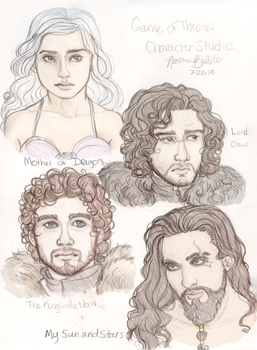 GoT: Character Studies by naomimakesart