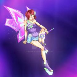 Tecna Winx.Transformation  - Mythix by YuieRika
