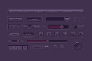 Purple Ui Kit by kazu3106