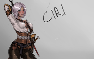 Ciri WItcher 3 by nickxar1
