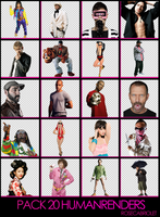 Pack 20 Human Renders by RoseCabriolet