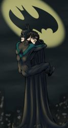Nightwing Hugs by SeasideFantasy