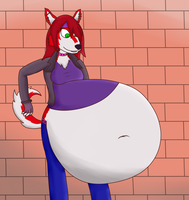 [Gift] Rosa's Belly by Pumkinpie44