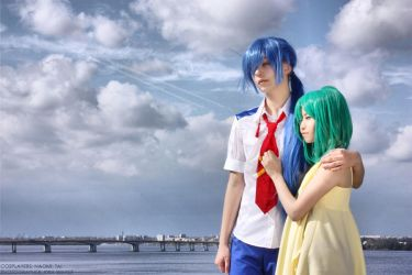 Macross Frontier - Alto, Ranka by kirawinter