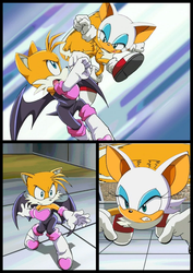 conflict between Rouge and Tails Page 3 by SwappyShira