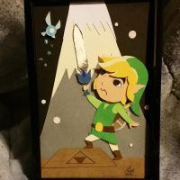 Toon Link - Layered Paper Cut Art Piece by blackdog393