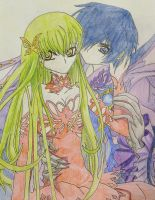 C2 and Lelouch by kittykatc666