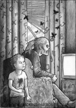 Mommy is watching telly by Devilry
