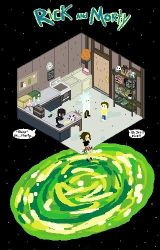 Rick and morty pixel art with another mini me! by Chir-ii