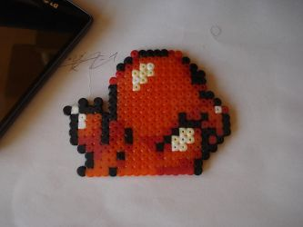 Comision~ Charmander Hama beads by Animally