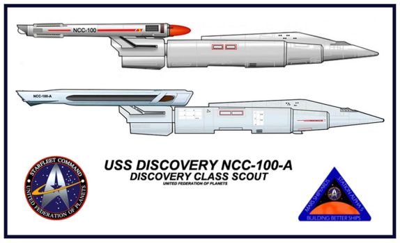 USS DISCOVERY NCC-100-A by SR71ABCD