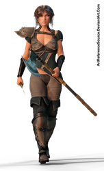 Free Stock PNG:  Varna, ready for battle by ArtReferenceSource