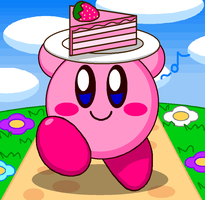 Kirby Have Cake by cuddlesnam